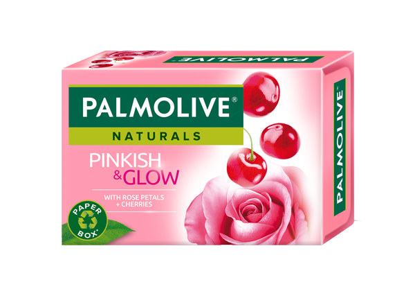 Palmolive Naturals Pinkish & Glow with Rose Petals and Cherries Soap Carton